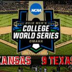 NCAA College World Series Game #8: #5 Arkansas vs #9 Texas Tech